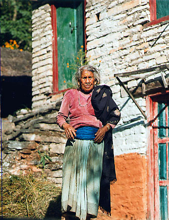 HOLY WOMAN in Napal  Photo by Dennis Kohn